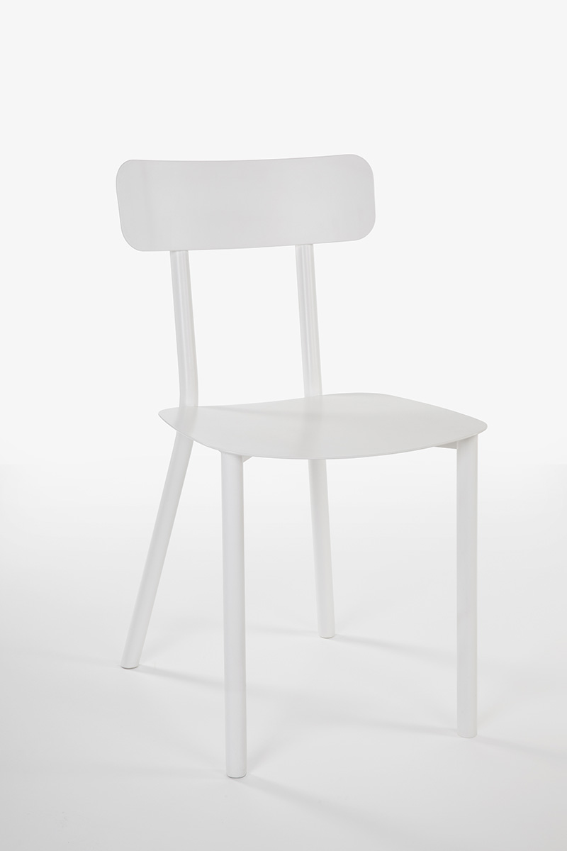 white design garden chair