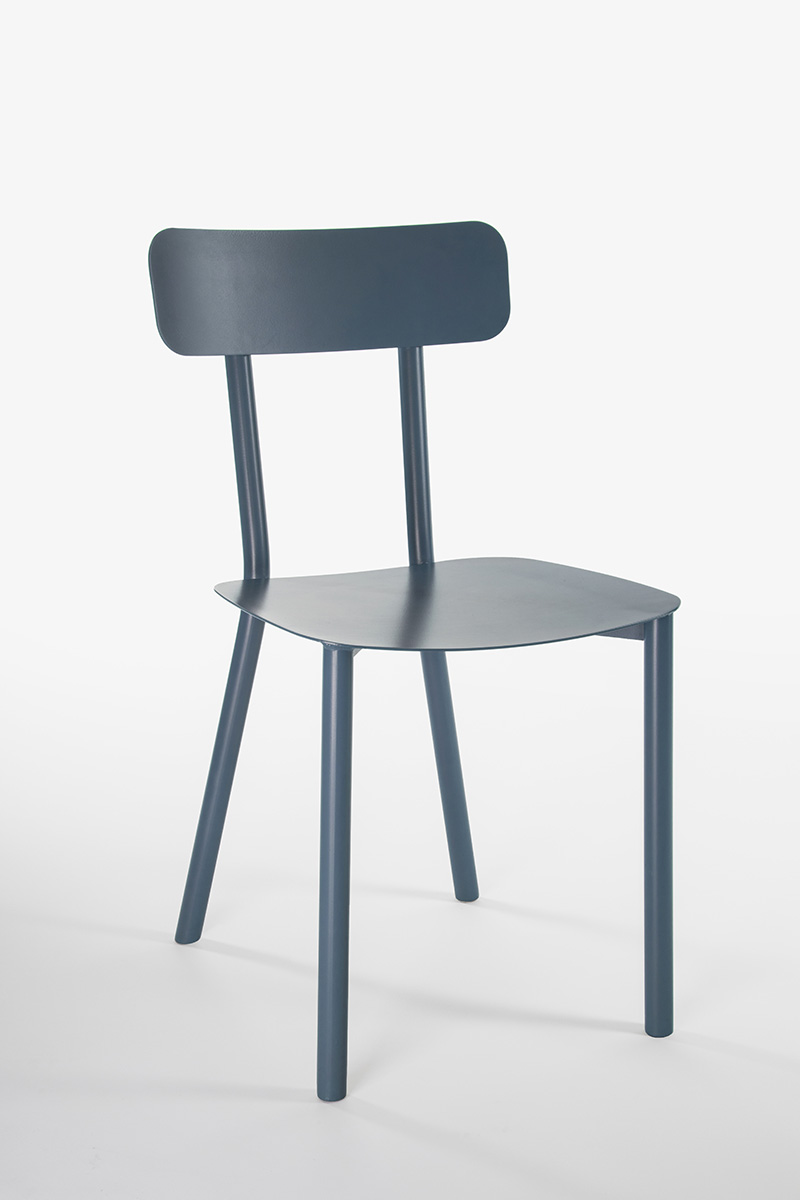 sedia design blu