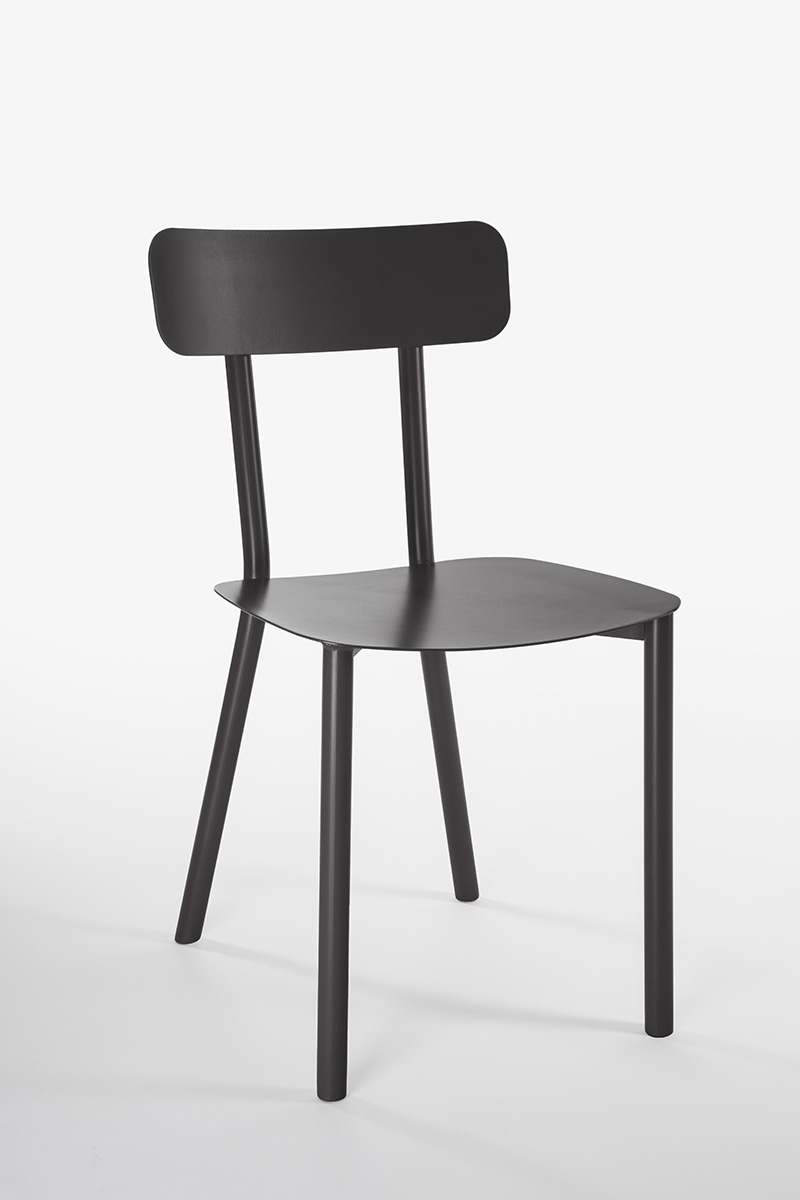black design garden chair