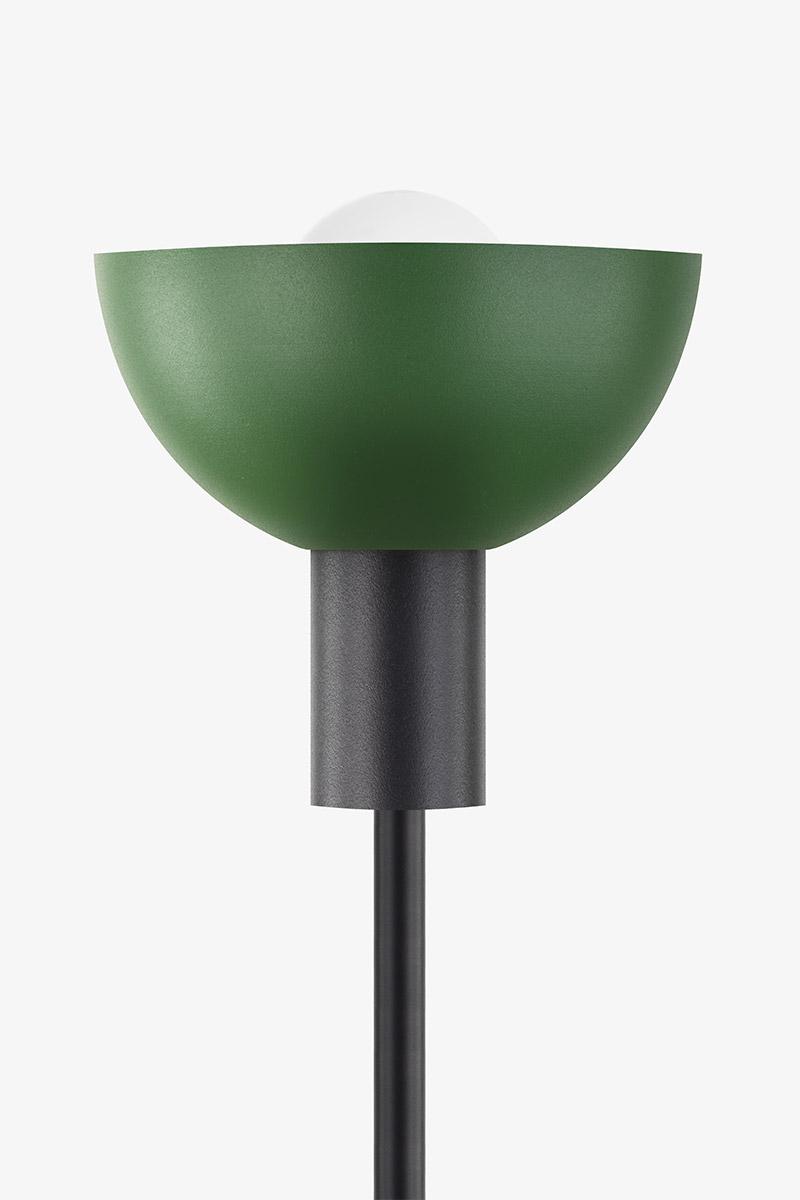 green black metal floor lamp
