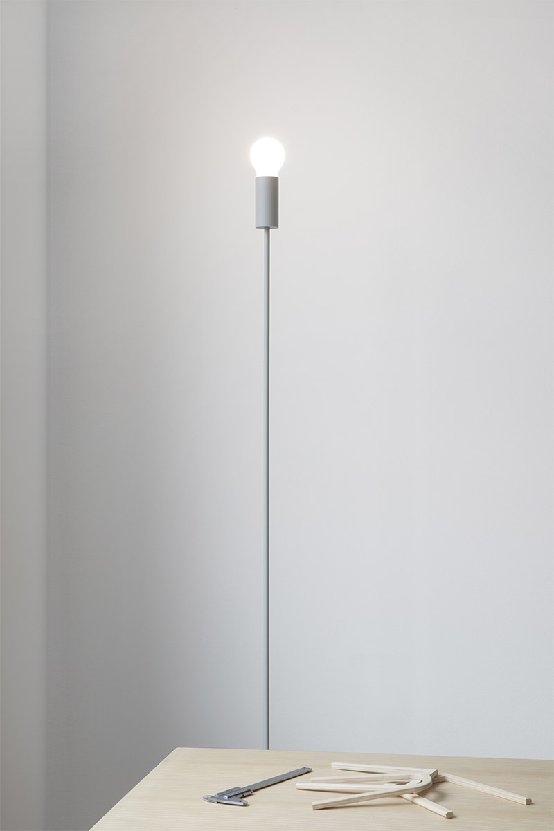 grey elegant simple metal floor light