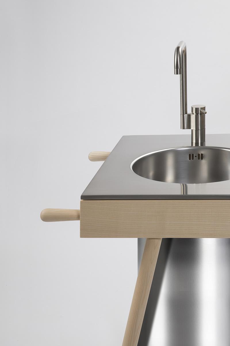 design steel kitchen Milan
