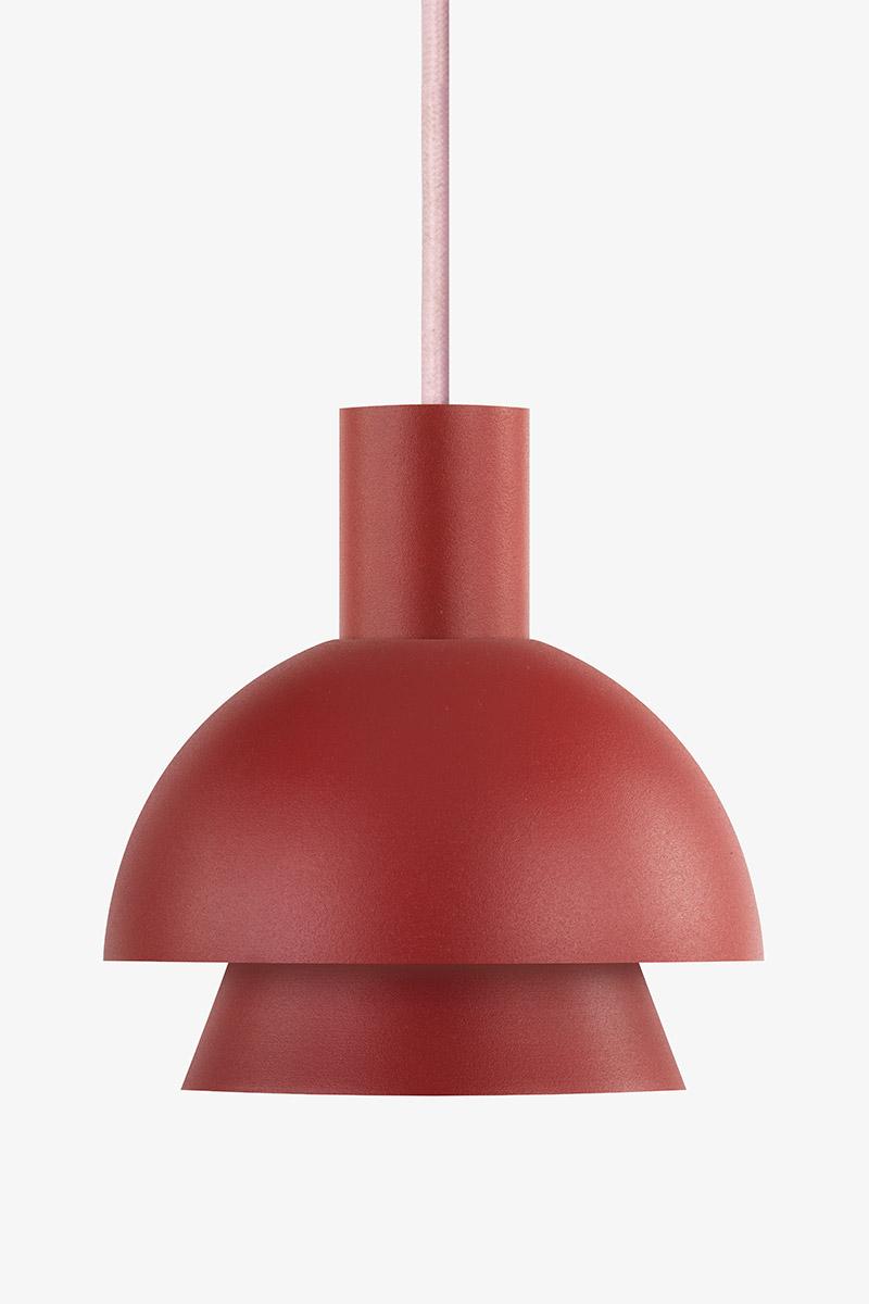 red metal pendant light
