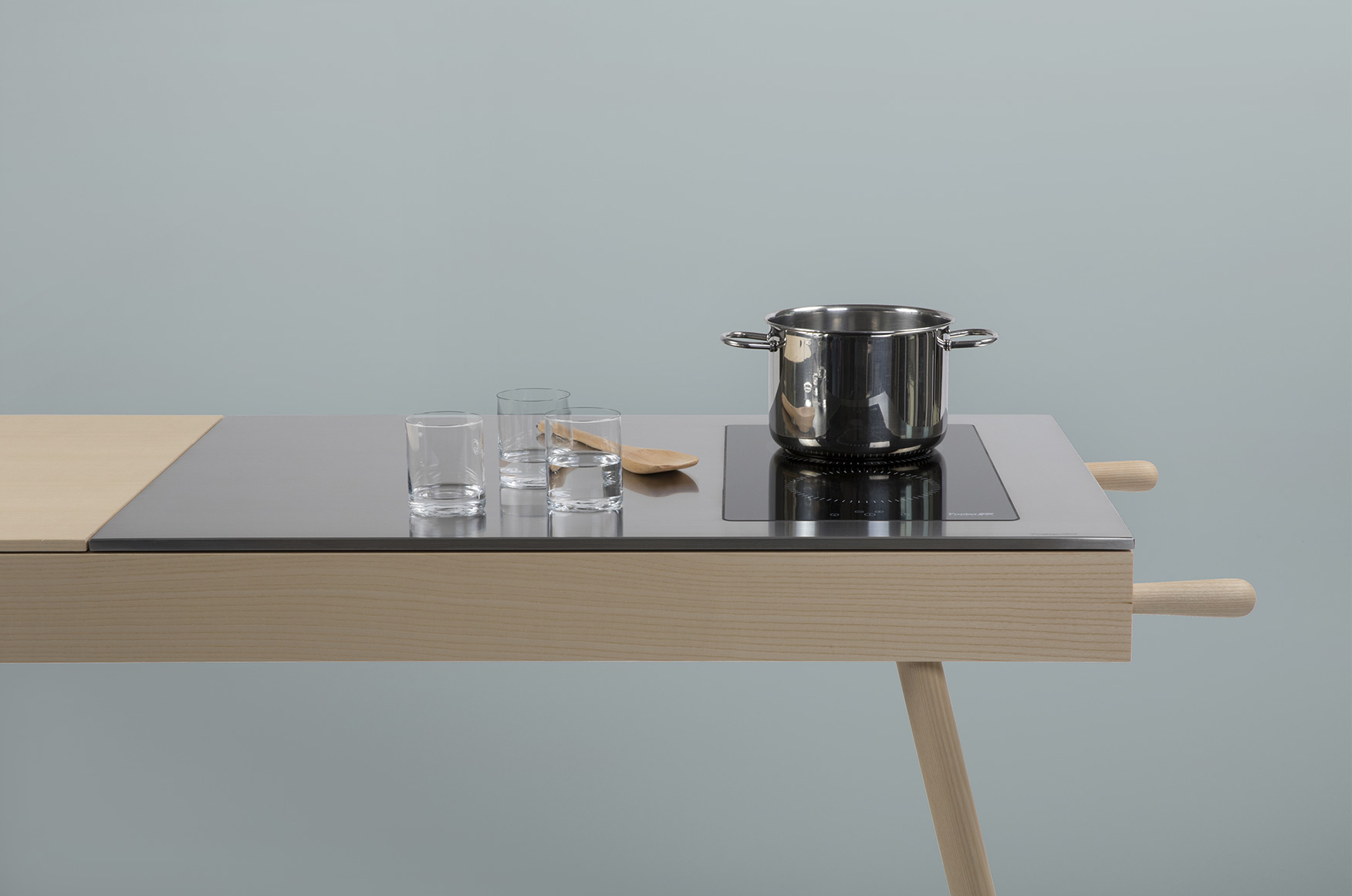 induction ash wood countertop
