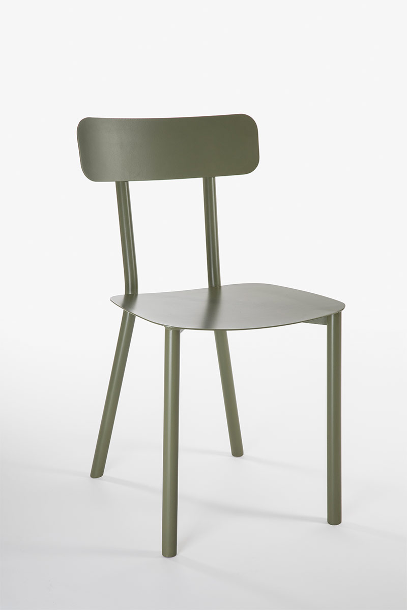 Picto Aluminium chair design Elia Mangia Milan