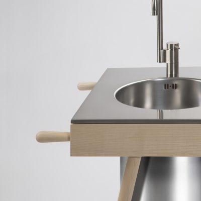 cucina moderna acciaio