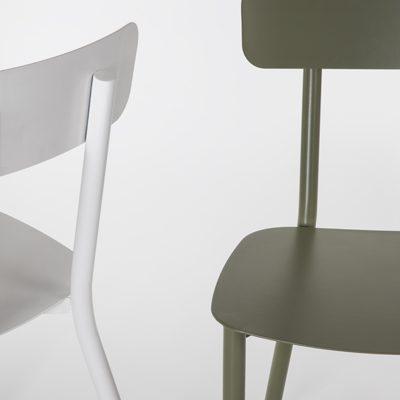 sedia design in alluminio
