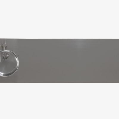 cucina isola componibile acciaio