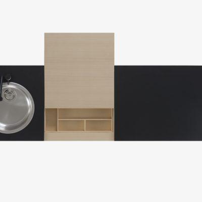 cucina freestanding componibile nera