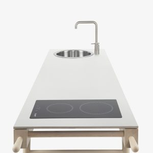 cucina isola design induzione