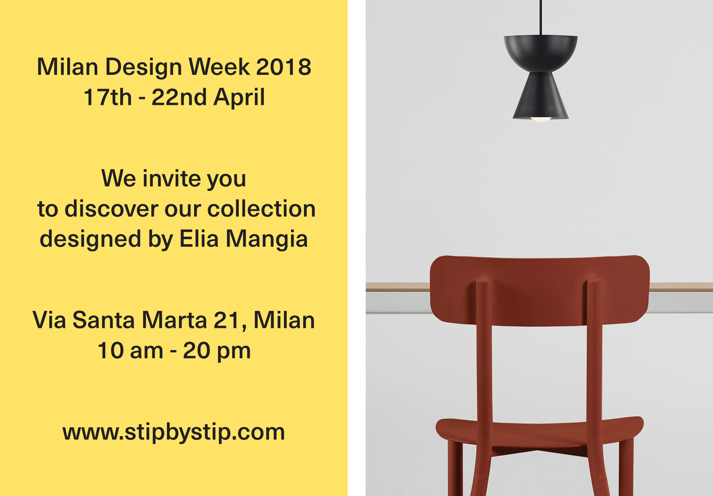 We invite you to discover our collection designed by Elia Mangia