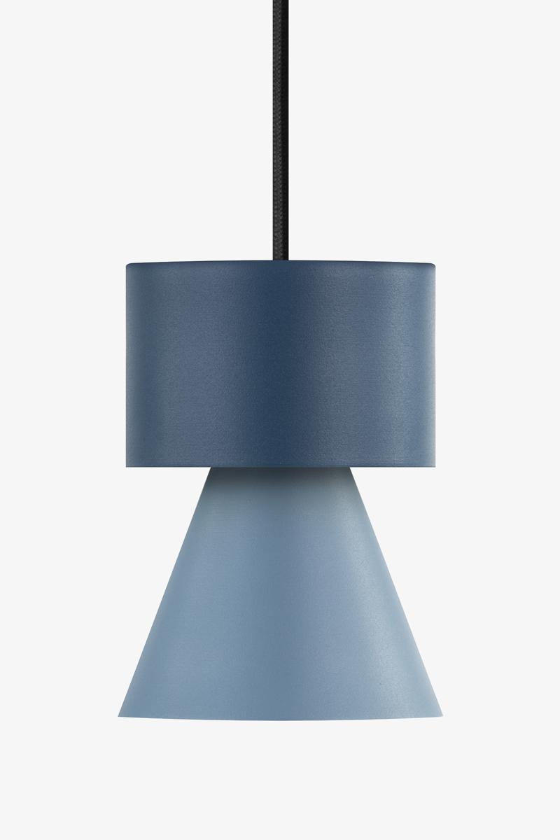 lampada a sospensione moderna blu