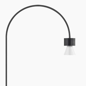 lampada da pavimento design bianca nera