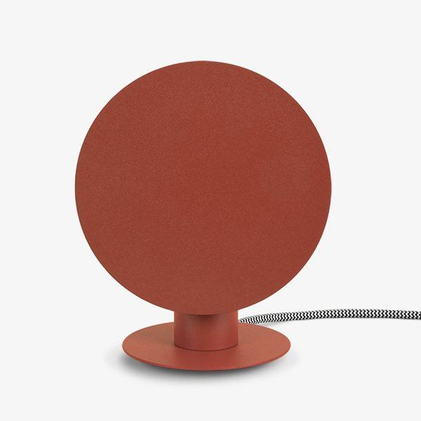 Lampada da tavolo rosso corallo