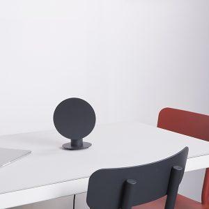 lampada da tavolo tonda nera